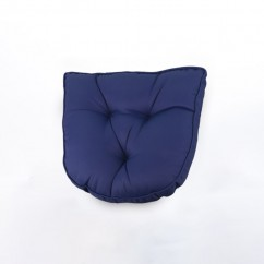 Indoor/Outdoor chair pad cushion - Solid - Navy - 19.5 x 19.5 x 2.7''