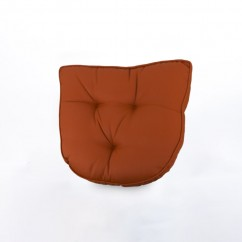Indoor/Outdoor chair pad cushion - Solid - Terracotta - 19.5 x 19.5 x 2.7''