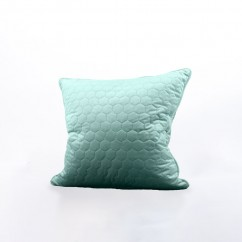 Decorative feather cushion - Luxe quilted - Aqua - 20 x 20''