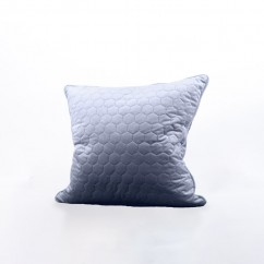 Decorative feather cushion - Luxe quilted - Grey - 20 x 20''