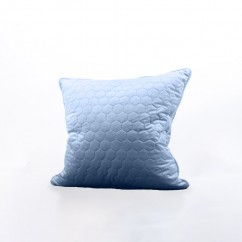 Decorative feather cushion - Luxe quilted - Light blue - 20 x 20''