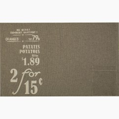 Placemat - Grocery - Grey & yellow - 13 x 19''