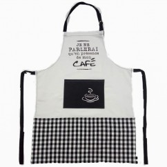 Apron - Coffee - Black & white - 31 x 24''