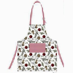 Apron - Mangia - Red & white - 31 x 24''