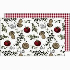 Placemat - Mangia - Red & white - 13 x 19''