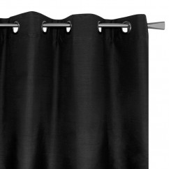 Blackout grommet panel - Britney - Black - 54 x 85''