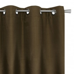 Blackout grommet panel - Britney - Brown - 54 x 85''