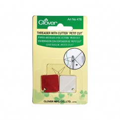CLOVER - Needle Threader with Cutter - 2 pcs
