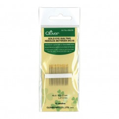 CLOVER - Gold Eye Quilting Needles #9