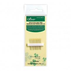 CLOVER - Gold Eye Quilting Needles #12
