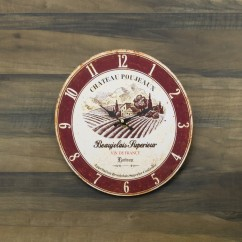 Wall Clock - Beaujolais - Brown - 13 x 13 x 1,5''