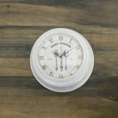 Wall Clock - French patisserie - White - 13 x 13 x 2''