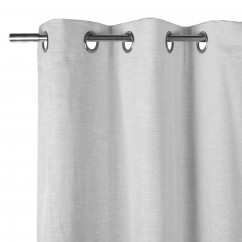Blackout Grommet curtain panel - Kono - White - 54 x 85''