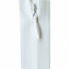 """COSTUMAKERS Invisible Closed End Zipper 20cm (8"""") - White - 1780"""