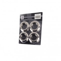 70mm - Plastic Grommets - Brushed Silver
