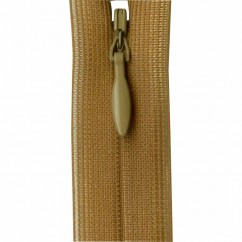 """COSTUMAKERS Invisible Closed End Zipper 55cm (22"""") - Golden Brown - 1780"""