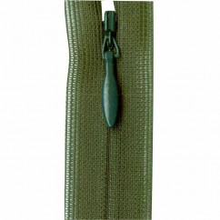 """COSTUMAKERS Invisible Closed End Zipper 55cm (22"""") - Forest Green - 1780"""