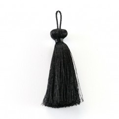 Beaded ball tassel 3 inch - Black