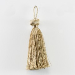 Beaded ball tassel 3 inch - Coffee