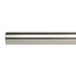 19mm metal rod - Brushed Silver