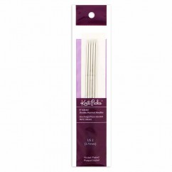 "KNIT PICKS Nickel Plated Double Point Knitting Needles 15cm (6"") - Set of 5 - 2.75mm/US 2"