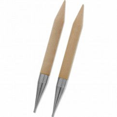 KNIT PICKS Birch Wood Interchangeable Circular Needle Tips - 15mm (US 19)
