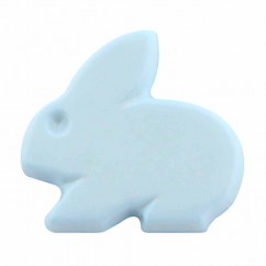 "CIRQUE Novelty Shank Button - Light Blue - 15mm (⅝"") - Bunny"