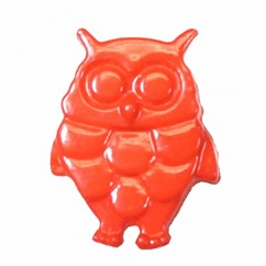 "CIRQUE Novelty Shank Button - Orange - 18mm (¾"") - Owl"