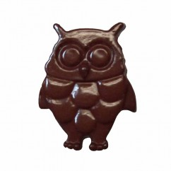"CIRQUE Novelty Shank Button - Brown - 18mm (¾"") - Owl"