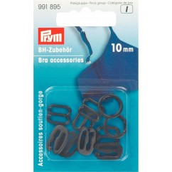 Bra Accessories - Plastic Asst. - 10mm - Black
