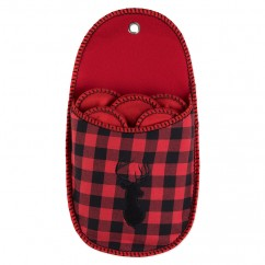 Plaid slipper holder - Red