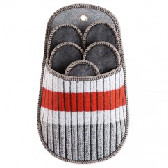 Plaid slipper holder - Sock - White