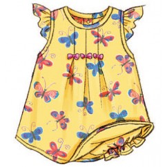 B3405 Infants' Dress, Top, Romper, Panties, Hat & Headband (size: L-XL)