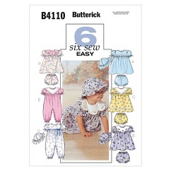 B4110 Infants' Dress, Panties, Jumpsuit and Hat (size: All Sizes In One Envelope)