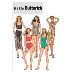 B4526 Misses' Swimsuit and Wrap (size: 6-8-10-12)