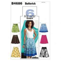 B4686 Misses' Skirt (size: 6-8-10-12)
