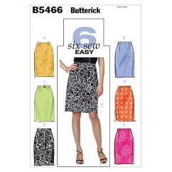 B5466 Misses' Skirt and Belt (size: 8-10-12-14)