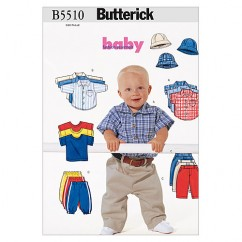 B5510 Infants' Shirt, T-Shirt, Pants and Hat (Size: NB-S-M)