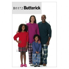 B5572 Misses'/Men's/Children's/Boys'/Girls' Top, Shorts and Pants (Size: (3-4) (5-6) (7-8) (10-12))