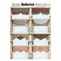 B5582 Reversible Window Valance (size: One Size Only)