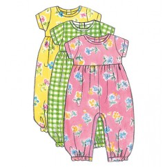 B5624 Infants' Dress, Jumper, Romper, Jumpsuit, Panties, Hat and Bag (size: L-XL)