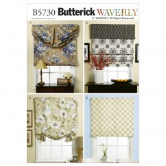 B5730 Window Shade and Valance (size: All Sizes In One Envelope)