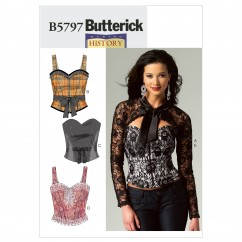 B5797 Misses' Corset, Sash and Shrug (Size: 14-16-18-20-22)