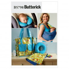 B5798 Baby's Changing Pad, Neck Support, Carrier and Diaper Bag (size: One Size Only)