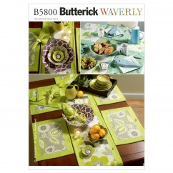 B5800 Napkins, Placemats, Table Runner, Table Cloth and Flower Bowl in 3 Sizes (size: One Size Only)