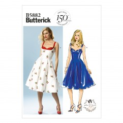B5882 Misses' Dress (size: 4-6-8-10-12)