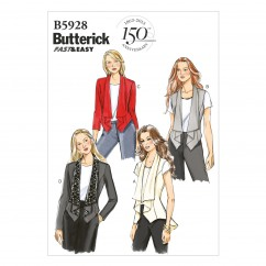 B5928 Misses' Vest and Jacket (size: 6-8-10-12-14)