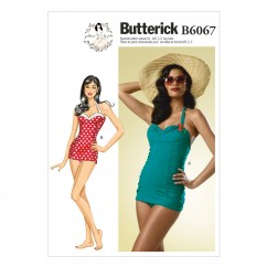 B6067 Misses' Swimsuit (size: 6-8-10-12-14)