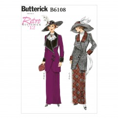 B6108 Misses' Jacket, Bib and Skirt (size: 14-16-18-20-22)