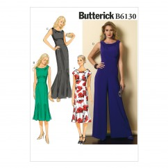 B6130 Misses' Dress and Jumpsuit (size: 6-8-10-12-14)